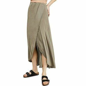Free People S Army Green Maxi Skirt NWT AI54
